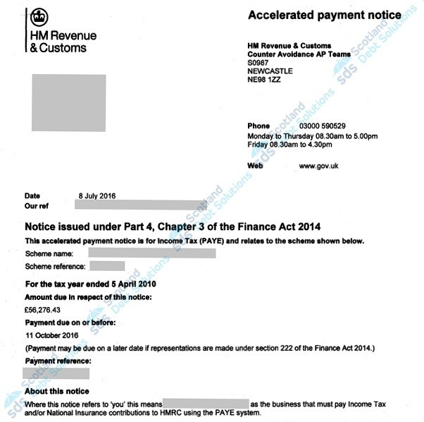 Accelerated Payment Notices Document